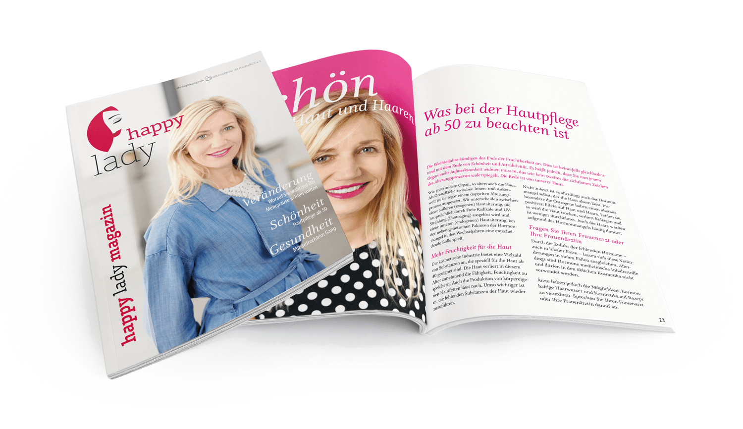 HappyLaday-Magazin, das Informationsmedium für Frauen in der Menopause