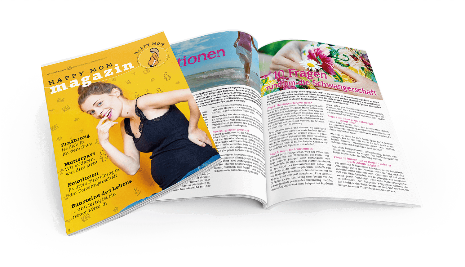 HappyMom magazine, the information medium for expectant mothers
