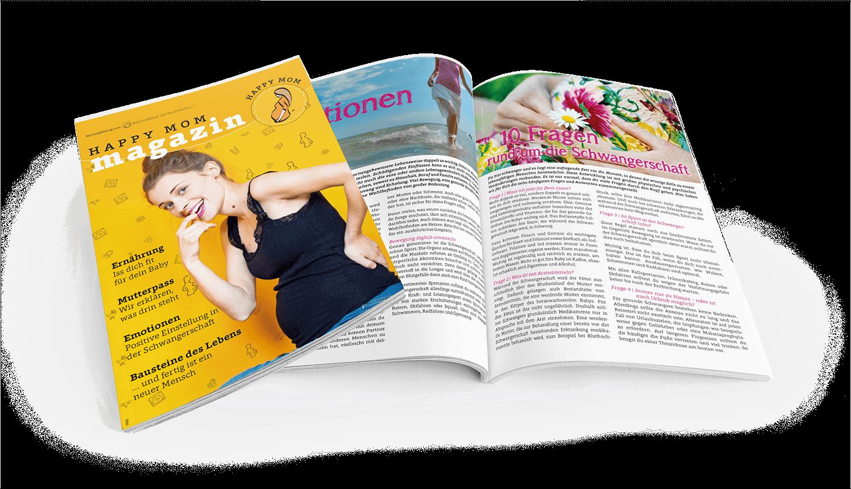 HappyMom Magazin, das Informationsmedium für werdende Mütter