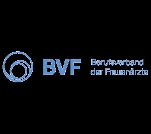 Logo-Block des Berufsverbandes der Frauenärzte (BVF)